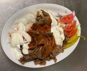 Kebabtallrik med ris